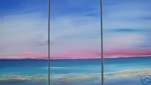 Modern Abstract oil painting on Canvas Illusion 007