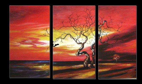 "Modern flower oil painting on Canvas ""tree010"""