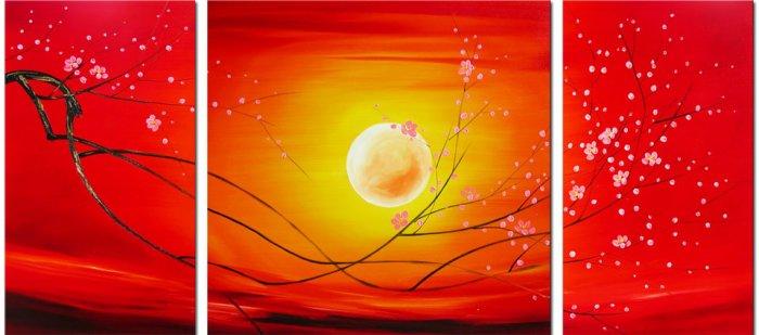 "Modern flower oil painting on Canvas ""tree017"""