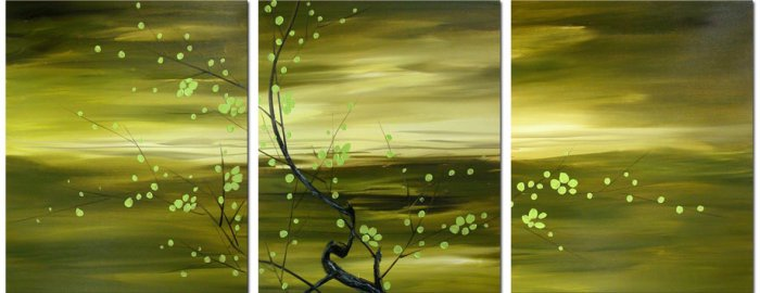 "Modern flower oil painting on Canvas ""tree018"""