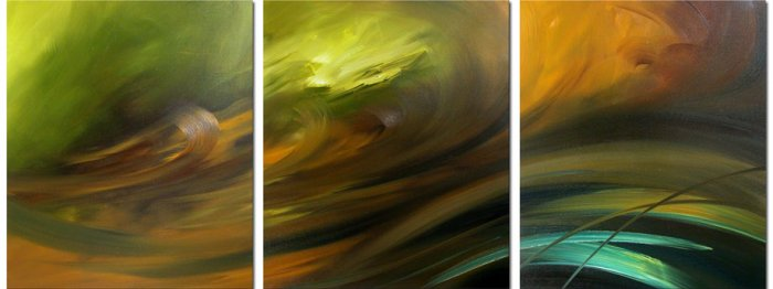 "Modern Abstract oil painting on Canvas""Illusion 020"""