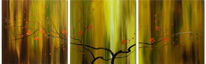 "Modern flower oil painting on Canvas ""tree"" 025"