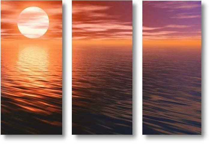 """Modern seascape oil painting on Canvas""""sunglow031"""""""