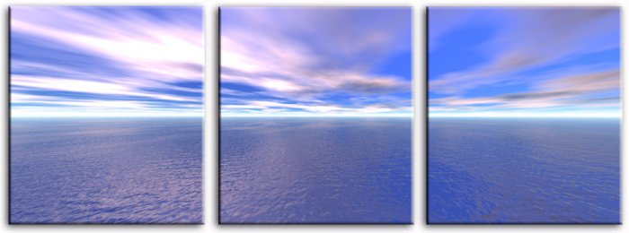 Modern seascape oil paintings on Canvas sunglow 074