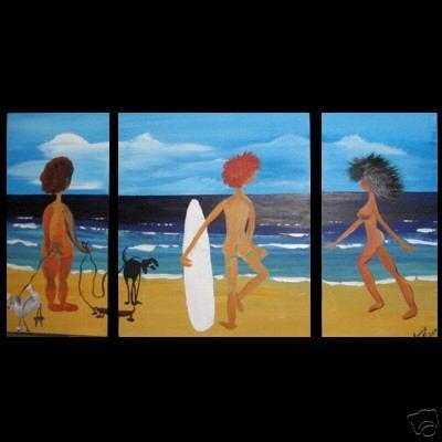 Modern portrait oil paintings on Canvas Joyful people107
