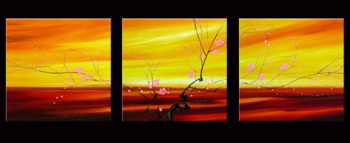 Modern flower oil paintings on Canvas flower 108