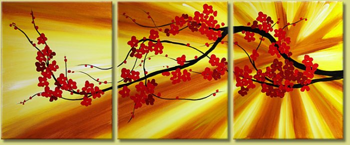 Modern flower oil paintings on Canvas flower 117