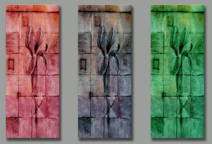 Modern Abstract oil paintings on Canvas Illusion 165