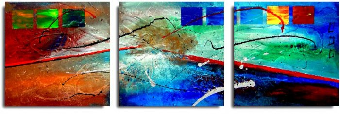 Modern Abstract oil paintings on Canvas Illusion 183