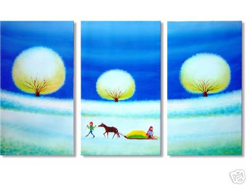 Modern Abstract oil paintings on Canvas Illusion 191