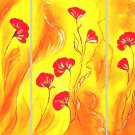 Modern flower oil paintings on Canvas Illusion 194
