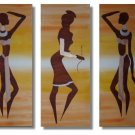 Modern portrait oil paintings on Canvas African girls 217