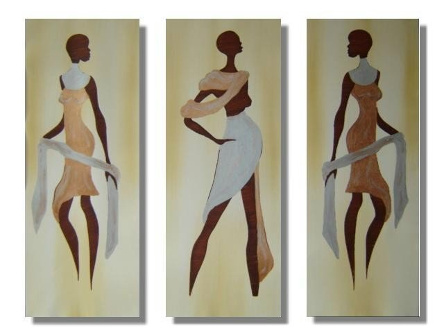 Modern portrait oil paintings on Canvas African girls 219