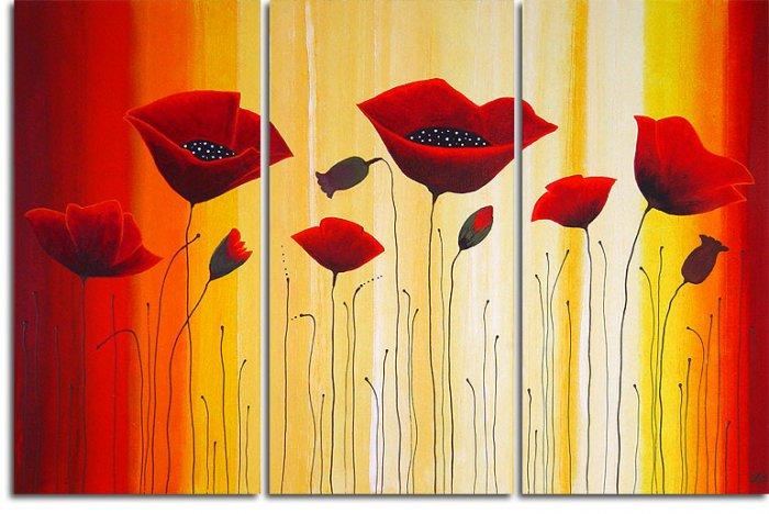 Modern flower oil paintings on Canvas Illusion 176