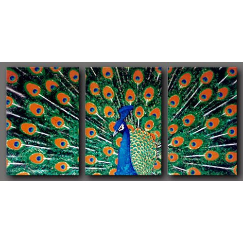 Modern animal oil paintings on Canvas  peafowl painting 295