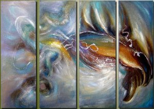 """Modern Abstract oil painting on Canvas """"Illusion 028"""""""