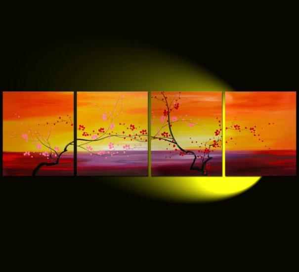 "Modern flower oil painting on Canvas ""tree""047"