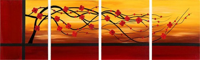 "Modern flower oil painting on Canvas ""leafage095"""