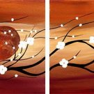 "Modern flower oil painting on Canvas ""Illusion 096"""