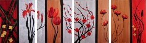 "Modern flower oil painting on Canvas ""Illusion 099"""
