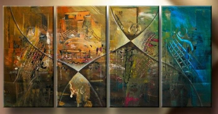 """Modern Abstract oil painting on Canvas """"Illusion 141"""""""