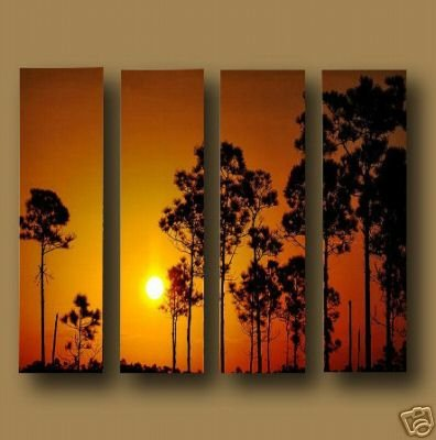 "Dafen Modern sunset glow oil painting on Canvas ""sunglow453"""