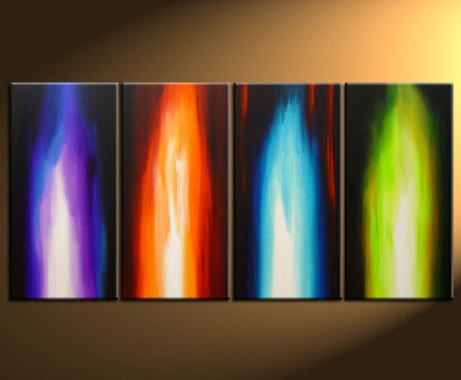 """Dafen Modern Abstract oil painting on Canvas """"Illusion 114"""""""