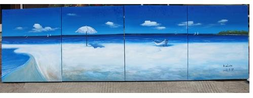 """Dafen Modern seascape oil painting on Canvas """"Illusion 442"""""""