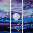 """Dafen Modern flower oil painting on Canvas """"sunsetting023"""""""