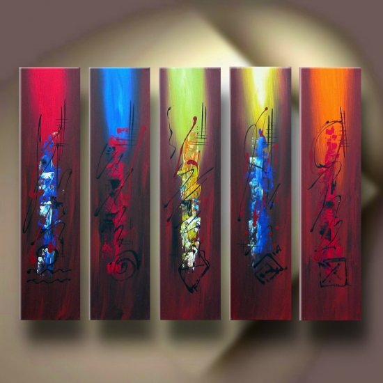 """Dafen Modern Abstract oil painting on Canvas """"Illusion 139"""""""
