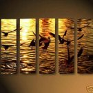 "Dafen Modern seascape oil painting on Canvas ""sunglow484"""