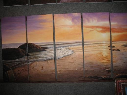 """Dafen Modern seascape oil painting on Canvas """"sunglow498"""""""