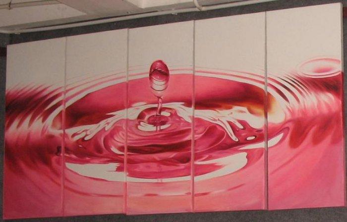 Dafen Modern  art oil painting on Canvas orange water 503