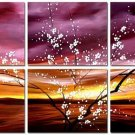 Modern oil painting on Canvas flower painting set282