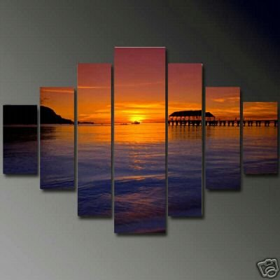Modern oil painting on Canvas  seascape painting 610