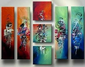 Modern oil painting on Canvas abstract painting set133