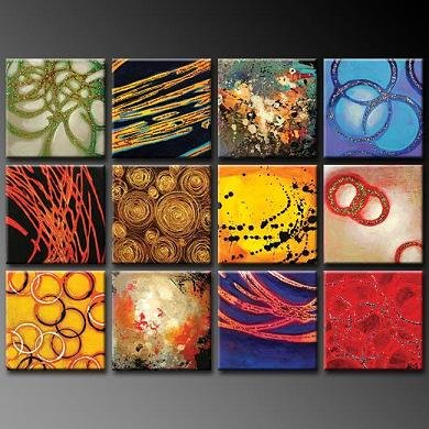 Modern oil painting on Canvas abstract painting set376