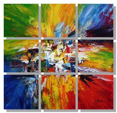 Modern oil painting on Canvas abstract painting set407