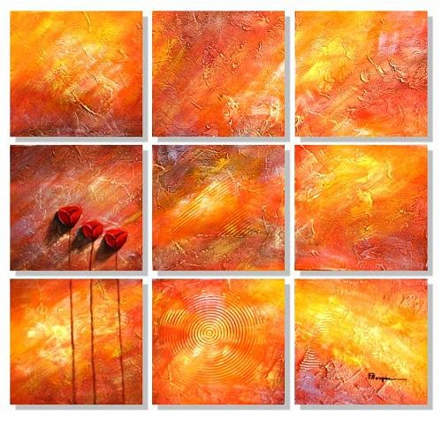 Modern oil painting on Canvas abstract painting set409