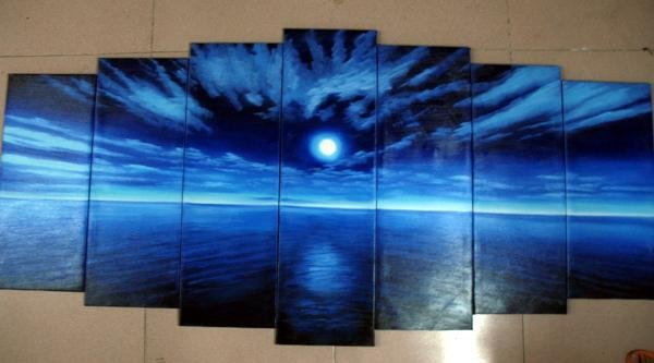 Modern oil painting on Canvas  seascape painting 449