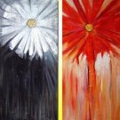 Modern oil painting on Canvas flower painting set032