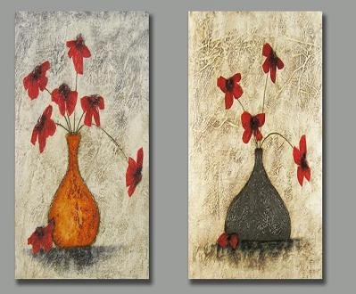 Modern oil painting on Canvas flower painting set147