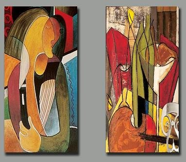 Modern oil painting on Canvas abstract painting set158