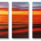 Modern oil painting on Canvas sunset glow painting set248