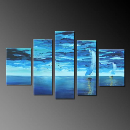 Modern oil painting on Canvas seascape painting set 290