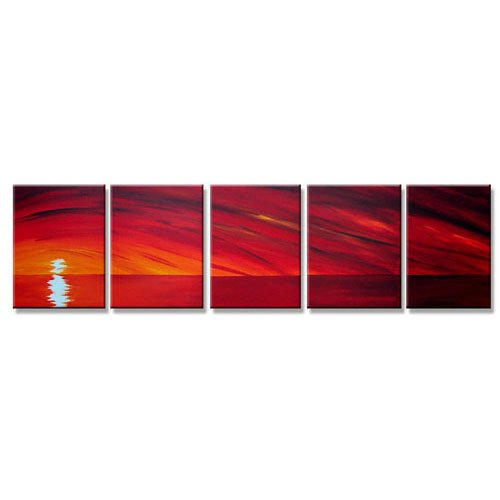 Modern oil painting on Canvas sunset glow painting set 296