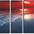 Modern oil painting on Canvas sunset glow painting set 315