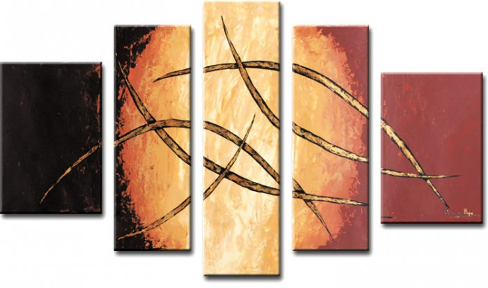 Modern oil painting on Canvas abstract painting set 349