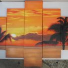 Modern oil painting on Canvas sunset glow painting set 439