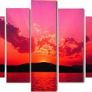 Modern oil painting on Canvas sunset glow painting set467